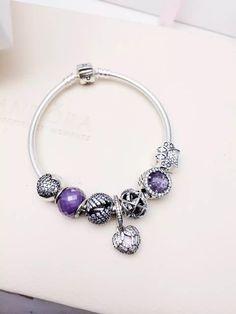 50% OFF!!! $199 Pandora Charm Bracelet Purple. Hot Sale!!! SKU: CB02027 - PANDORA Bracelet Ideas