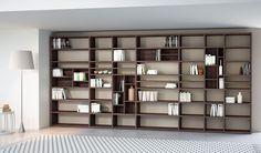 Libreria moderna bifacciale componibile SYSTEMA OPEN