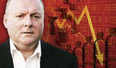 Damian McBride contra financeiro gráfico vermelho