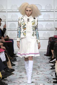 Hair ideas for fashion show. Schiaparelli Couture Spring 2016