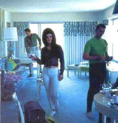 Elvis and Priscilla on vacation in Hawaii, May 1968