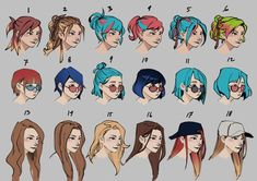 Ideas Hair Art Reference Character Design For 2019 Character Design Tips, Character Design Cartoon, Character Design References, Character Drawing, Hair Sketch, Sketch Art, Sketches, Anatomy Drawing, Manga Drawing