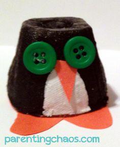 Egg Carton Penguin Craft