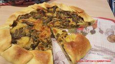 Torta salata fagiolini, patate e formaggio