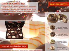 Não resista aos nossas deliciosos doughnuts de chocolate! São deliciosos!