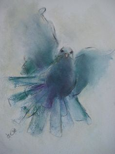 Dove by Sarah Orchard tattoo inspiration. Dove Tattoos, Tattoos Skull, Tribal Tattoos, Easy Watercolor, Watercolor Animals, Watercolor Paintings, Dove Tattoo Design, Birds In The Sky, Watercolor Christmas Cards