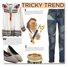 """""""Tricky Trend: Patchwork Denim"""" by pattyboombr ❤ liked on Polyvore featuring Étoile Isabel Marant, Michael Kors and patchworkdenim"""
