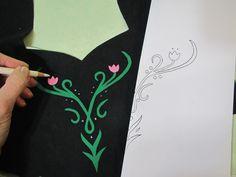 Anna's winter dress - MORE motifs - Andrea Schewe Design Anna Und Elsa, Frozen Elsa And Anna, Halloween Food Crafts, Halloween Ideas, Snow Queen Dress, Winter Gowns, Elsa Coronation, Frozen Dress, Frozen Costume