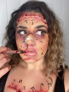 All Botched Up Plastic Surgery Gone Wrong Plastic Surgery Gone Wrong, Creative Makeup, Makeup Videos, Halloween Face Makeup, Photo And Video, Hair, Instagram, Strengthen Hair
