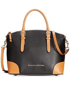 Dooney & Bourke Claremont Domed Satchel Handbag - Black