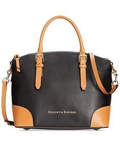 Dooney & Bourke Claremont Domed Satchel Handbag - Black