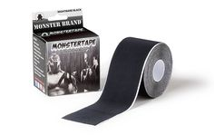 Monster Tape by Monster Brand, 1 Premium Athletic Performance Tape. Metal Winning Athlete Tested and Approved (Outlasting All Other Tapes!!!). Advanced Adhesive, Water and Sweat Resistant, and Highly Durable - Latest Adhesive Technology - Pro grade 2 in. x 16.4 ft. Uncut Roll Perfect for any Athlete or Therapeutic Need. Wrap-It-Up on any Muscle Comfortably. WOD Crossfit Tested and Approved - 100% Guaranteed - Great for Shoulders, Ankles, Knees, Elbows and Back. Perfect for All Sports…