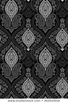 Find Seamless Black White Floral Wallpaper stock images in HD and millions of other royalty-free stock photos, illustrations and vectors in the Shutterstock collection. Thousands of new, high-quality pictures added every day. Textile Pattern Design, Surface Pattern Design, Textile Patterns, Textile Prints, Pattern Art, Floral Prints, Textiles, Floral Print Wallpaper, Painting Wallpaper
