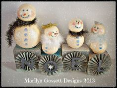 DIY Frosty Friends Winter Décor