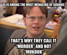 """This truth from Dwight. 