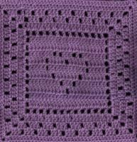 """The Heart Inside Square 12"""" ~ free pattern"""