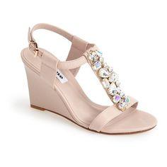 e7177e11b752 Dune London  Marzia  Crystal  amp  Leather Wedge Sandal