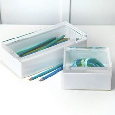 Twos Company Perspex 2 Piece Plastic Boxes Set
