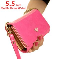 Women's Wallet Brand New Fashion Purse PU Leather Clutch Wallet For Mobile Phone 3 Clors Free Shipping-inWallets from Luggage & Bags on Alie...