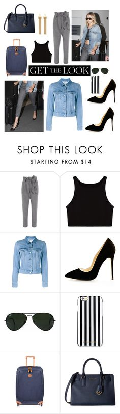 """""""Senza titolo #4814"""" by waikiki24 ❤ liked on Polyvore featuring Vivienne Westwood Anglomania, Acne Studios, Ray-Ban, MICHAEL Michael Kors, Bric's, Chloé, GetTheLook and airportstyle"""