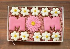 Your place to buy and sell all things handmade Cookie Cake Pie, Cookie Gifts, Cupcake Cookies, Cupcakes, Mothers Day Desserts, Mothers Day Cake, Chocolate Butter, Salted Chocolate, Royal Icing Cookies