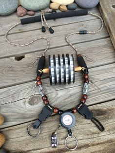 All New! Tailwaters Fly Fishing Lanyard by Golden Trout Lanyards by GoldenTroutLanyards on Etsy