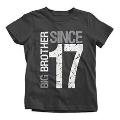 04682313680 Boy s Big Brother Since 2017 T-Shirt Promoted To Distressed T-Shirt