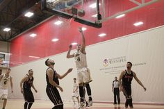 CMU Upsets RRC 77-68 in MCAC Men's Basketball Final   The CMU Blazers started hot out of the gate in the men's Final on Sunday afternoon getting a 16-8 lead on Red River early. Blazers third-year forward Sam Kinsley shot 3-for-8 and led the Blazers with 9 points in the first half but it was the collective play of CMU that helped them spread the ball out and keep the lead early. The Rebels - who were looking for their program's ninth straight men's basketball title - didn't get a lead until…