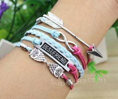 Arrow charm bracelet infinity bracelet best by superbracelet, $6.99