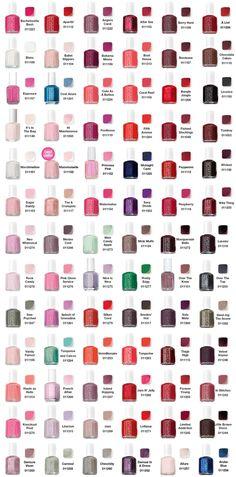 Essie color chart.