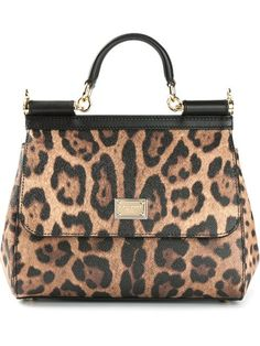 Shop Dolce & Gabbana small 'Sicily' leopard print tote in Nida from the world's best independent boutiques at farfetch.com. Over 1000 designers from 60 boutiques in one website.