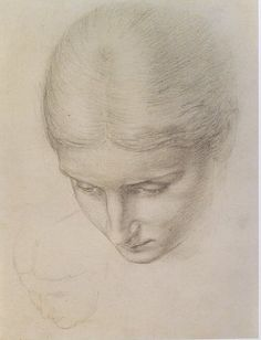 Study for a painted tile  Sir Edward John Poynter (1839-1919)  Before 1903  Pencil on white paper  6 x 5 inches