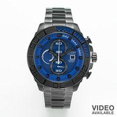 Citizen Eco-Drive Super Tough Titanium Black Ion Chronograph Watch