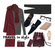 """""""Travel In Style"""" by genuine-people ❤ liked on Polyvore featuring Vacheron Constantin, Isabel Marant, Kate Spade, Royce Leather, black, burgundy, airportlook and traveloutfit"""