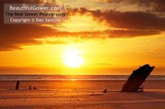 """Helvetia Wreck, Rhossili Bay by Dan Santillo. """"This was my first photo of the Helvetia - I'm sure I was one of the last photographers to take a photo of this wreck!"""""""