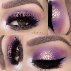 Purple Smokey Eye Makeup to Rock a Party ★ See more: https://makeupjournal.com/purple-smokey-eye-makeup/