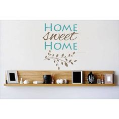 Design With Vinyl Home Sweet Home Wall Decal