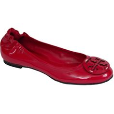 Pre-owned Tory Burch Pink Minnie Orchid Ballet Flats ($114) ❤ liked on Polyvore featuring shoes, flats, pink, round toe flats, patent leather ballet flats, ballet shoes, pink shoes and pink ballerina shoes