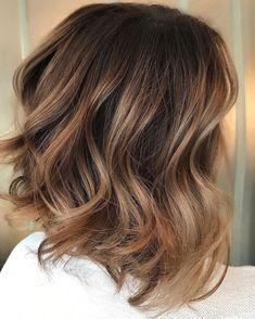 Balayage Bob, Brown Hair Balayage, Brown Hair With Highlights, Hair Color Balayage, Ombre Hair, Color Highlights, Brunette Highlights, Caramel Balayage Highlights, Short Balayage