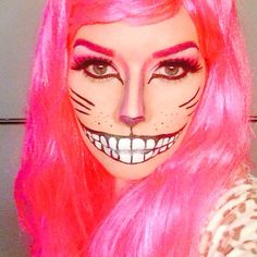 Cheshire Cat makeup #halloween #halloweenmakeup
