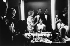 Natalie Wood, Best Actress nominee for her role as Deanie Loomis in Splendor in the Grass, gets her hair done prior to the 1962 Academy Awards.