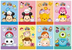 Tsum Tsum Note Pads Set of 6 - Excellent Party Favors - Tsum Tsum Birthday Party Favor - Tsum Tsum G Tsum Tsum Party, Disney Tsum Tsum, Disney Mickey, Disney Art, Disney Movies, Disney Pixar, Tsum Tsum Characters, Disney Doodles, Tsumtsum