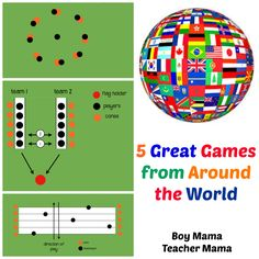 5 Great Games from Around the World I just finished up a week long camp where I taught children ages games from around the world. We plowed through what seems like hundreds of games, but ther. Around The World Games, Around The World In 80 Days, Around The Worlds, Camping Games Kids, Games For Kids, Children Games, Camping Foods, Camping Tricks, Young Children