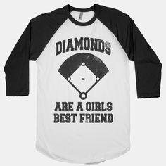 Diamonds Are A Girls Best Friend (Vintage Baseball)   HUMAN