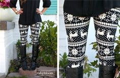 leggings ...cute Christmas morning outfit.