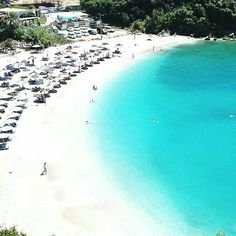 Great Sarakiniko Beach near Parga Sarakiniko Beach, Places In Greece, The Beach, Sandy Beaches, Greece Travel, Vacation Spots, Places To Go, Beautiful Places, Scenery