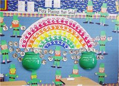 St. Patricks Day bulletin board