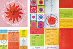 The playful mid-century visionary Alexander Girard was known as much for his prolific output — fabrics for Herman Miller, restaurant interiors, a commercial airline re-branding — as he was for his colorful, folk art–inspired aesthetic. Seasons Restaurant, Graphic Prints, Graphic Design, Alexander Girard, Brand Guide, Ron, Art Themes, Blog Design, Visual Identity