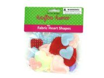 Bag fabric heart shapes, assorted colors - Pack of 72