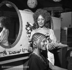 Hair stylist, longtime beauty salon owner and community activist Cleo Jackson 1972